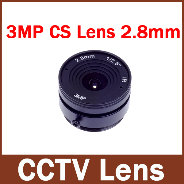 "3MP CCTV LENS 2.8mm F1.2 1/2.5"" IR 3MP Wide Angle CS 2.8mm Network Digital Surveillance Camera Lens(China (Mainland))"