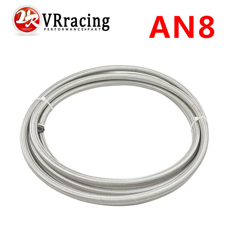 VR RACING-AN8 Double braided Stainless steel teflon fuel hose line AN8(ID:10MM,OD:15MM) VR7513(China (Mainland))