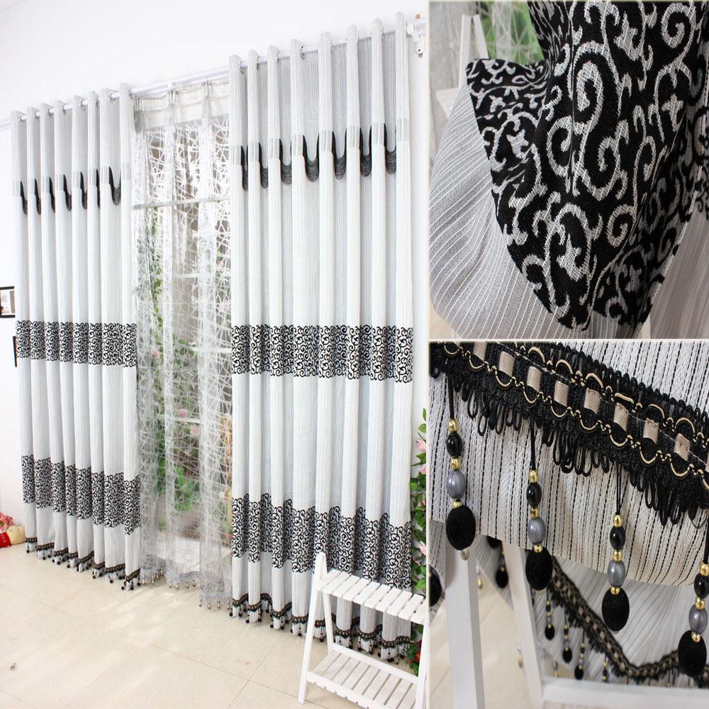 Achetez en gros moderne rideaux d'impression noir en ligne à ...