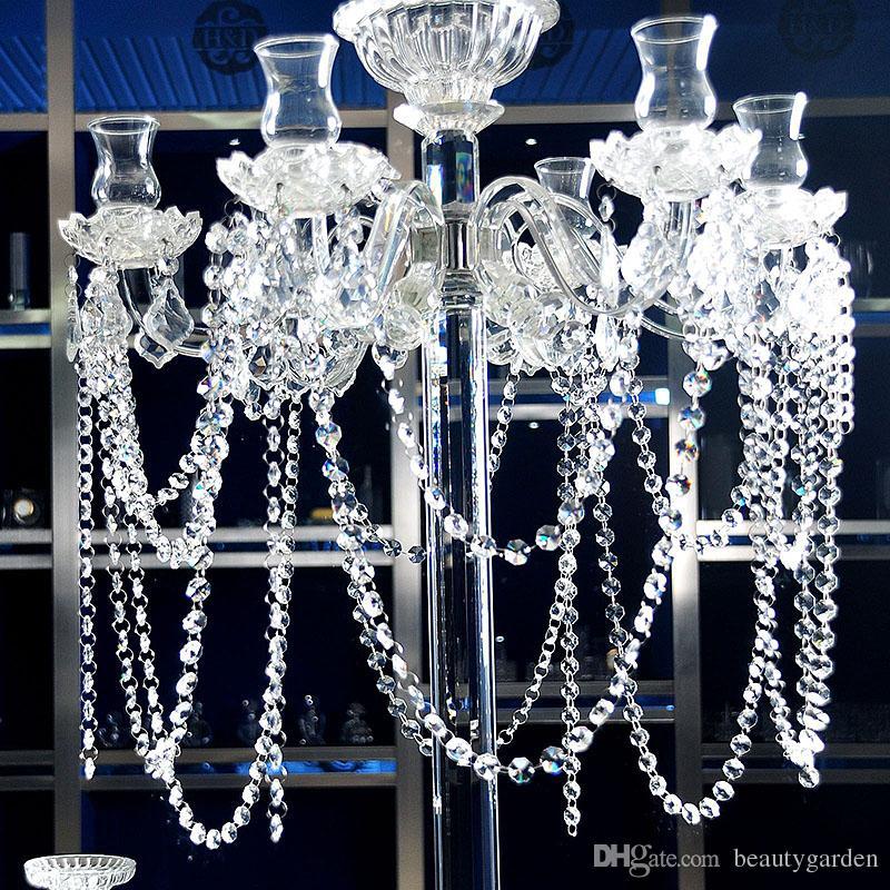 33feet/lot Sparkle 14mm Octagon Crystal Beads Chain Crystal Garland Strand Hung Strung Chandelier Wedding Centerpiece wa137(China (Mainland))