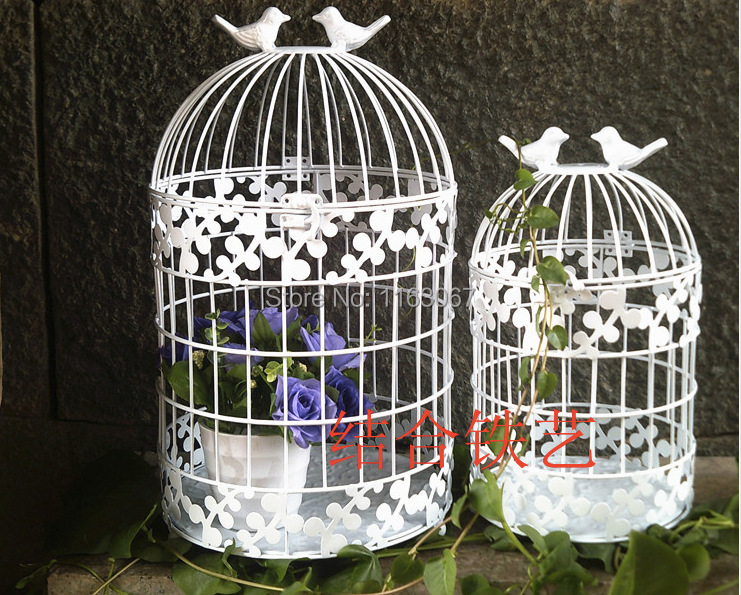 metal wrought iron bird cage decoration decorative cages window hanging cage metal wedding. Black Bedroom Furniture Sets. Home Design Ideas