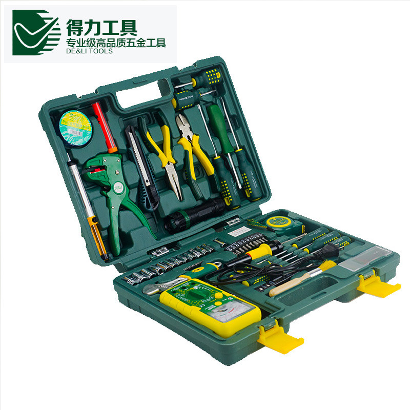The Best Quality DL1050G 50pcs a set DELI Household multifuncional repair tool set Durable in use<br><br>Aliexpress