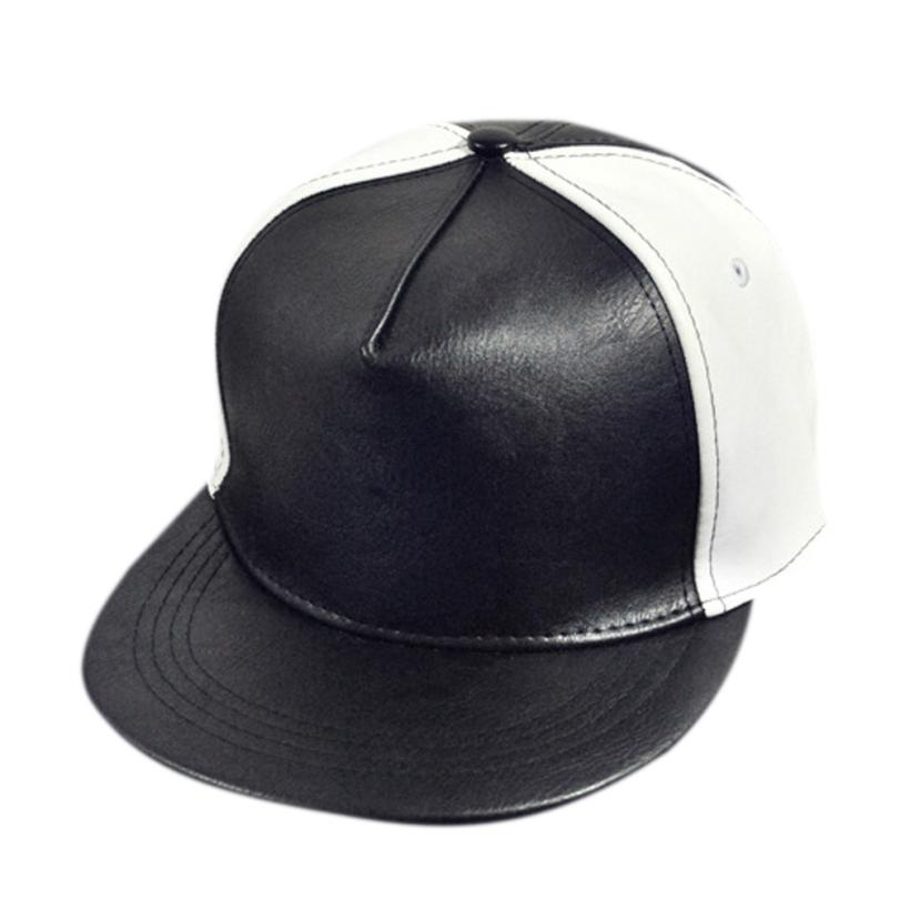 Promotional Gift CAP wholesale 2016 new PU Leather Baseball Cap outdoor Sports snapback Hats For Men women trucker hip hop(China (Mainland))