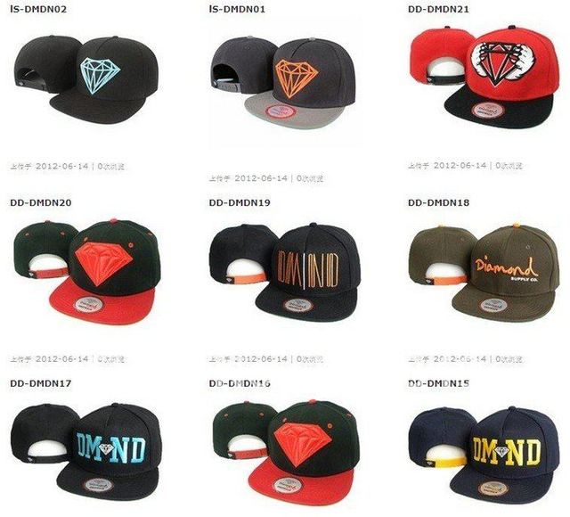 HOT SELL!!! On promotion high quality DIAMOND Snapback hats baseball hat  snap back cap caps mix order 8pcs/lot