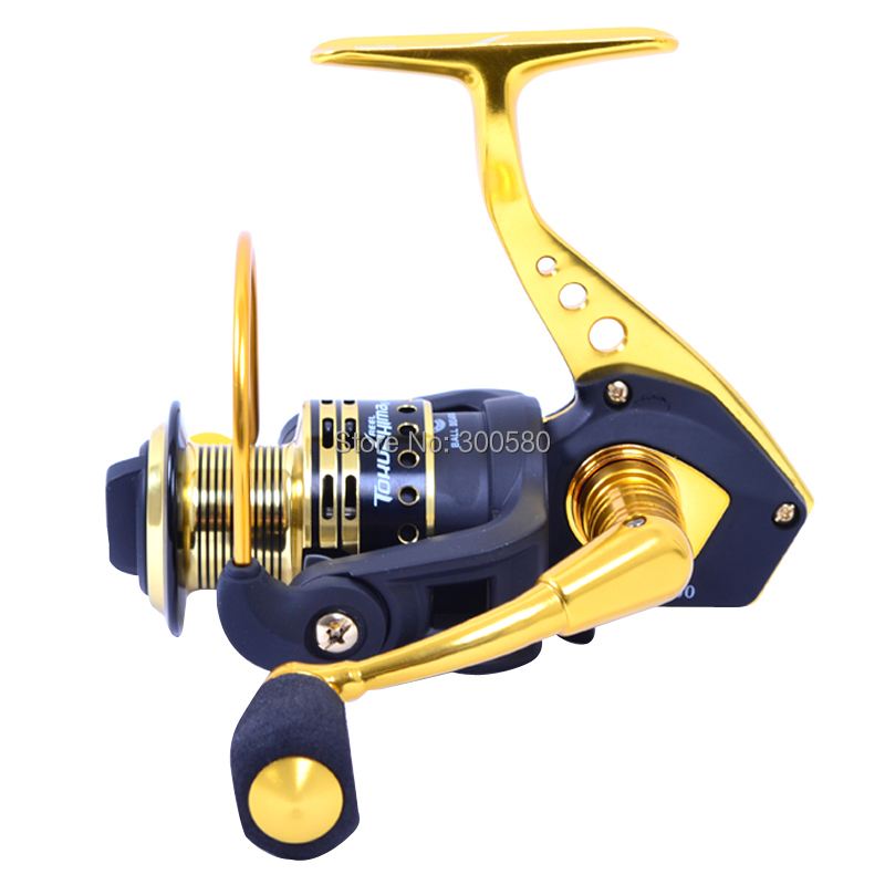 TOKUSHIMA Metal Spinning Fishing Reel 12BB SA5000 Dual Bearing Sea Saltwater Wheel Ratio 5.5:1 Pesca Free shipping(China (Mainland))