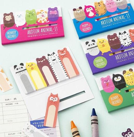 Гаджет  Cute Various Animals Memo Pad Sticky Notes Memo Notepad School Office Supply Escolar Papelaria Gift Stationery None Офисные и Школьные принадлежности