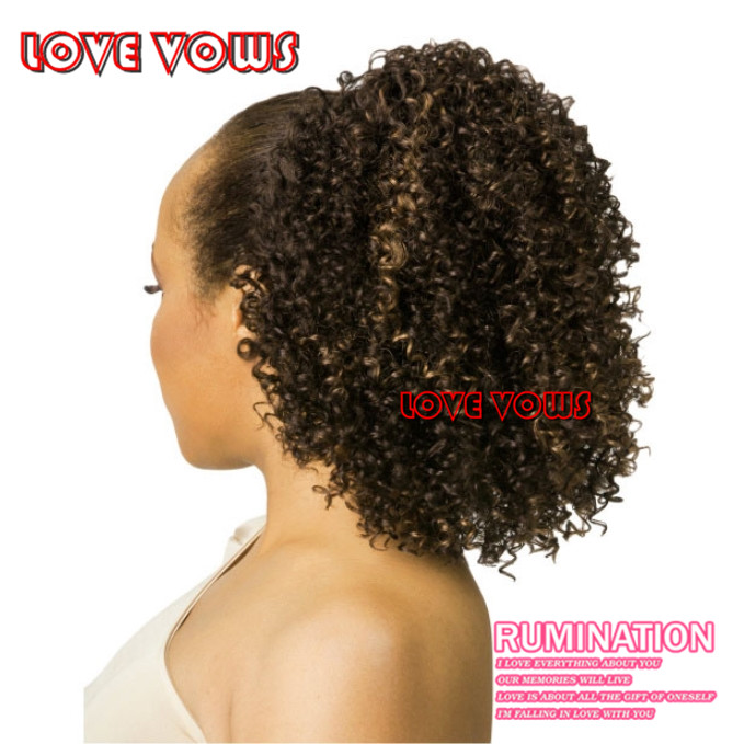 High sports ponytail hairstyle afro kinky curly Claw Ponytails for black women one piece hair Extensions braiding hair(China (Mainland))