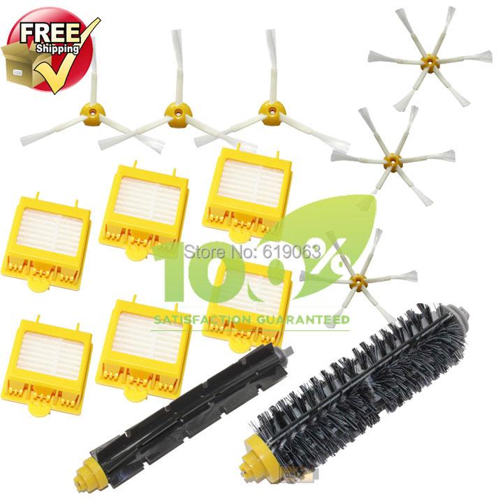 Hepa Filter,Side Brush,Bristle and Flexible Beater Brush for iRobot Roomba 700 Series 770 780 790(China (Mainland))