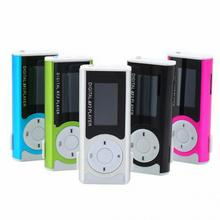 NEW New LCD Screen Metal Mini Clip MP3 Player with Micro TF/SD Slot with Earphone and USB Cable Portable MP3 Music Players(China (Mainland))