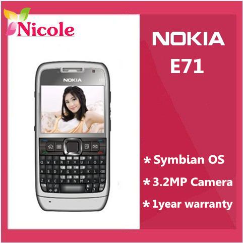 Nokia E71 original unlocked 3G mobile phone QWERTY Russian&Arabic keyboard available Singapore Post Free Shipping(China (Mainland))