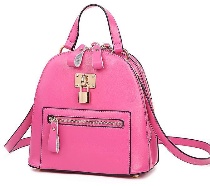 2015 New designer brand fashion black genuine leather backpack women orange bag women backpacks bolsa feminina bag ladies J287(China (Mainland))