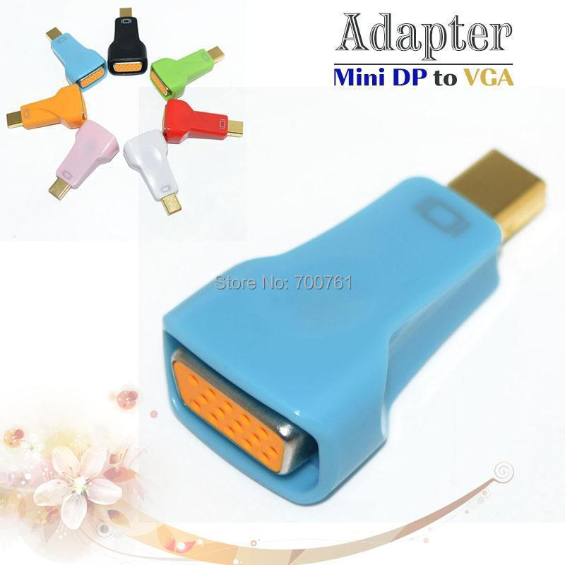 Colorful thunderbolt Mini DP to VGA adapter,1080p mini DisplayPort 1.1a to VGA male to female connector for MacBook PowerBook(China (Mainland))