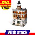 2016 DHL Lepin 15003 2859 PCS City Town Hall Sets Model Building Kits Set Blocks Compatible