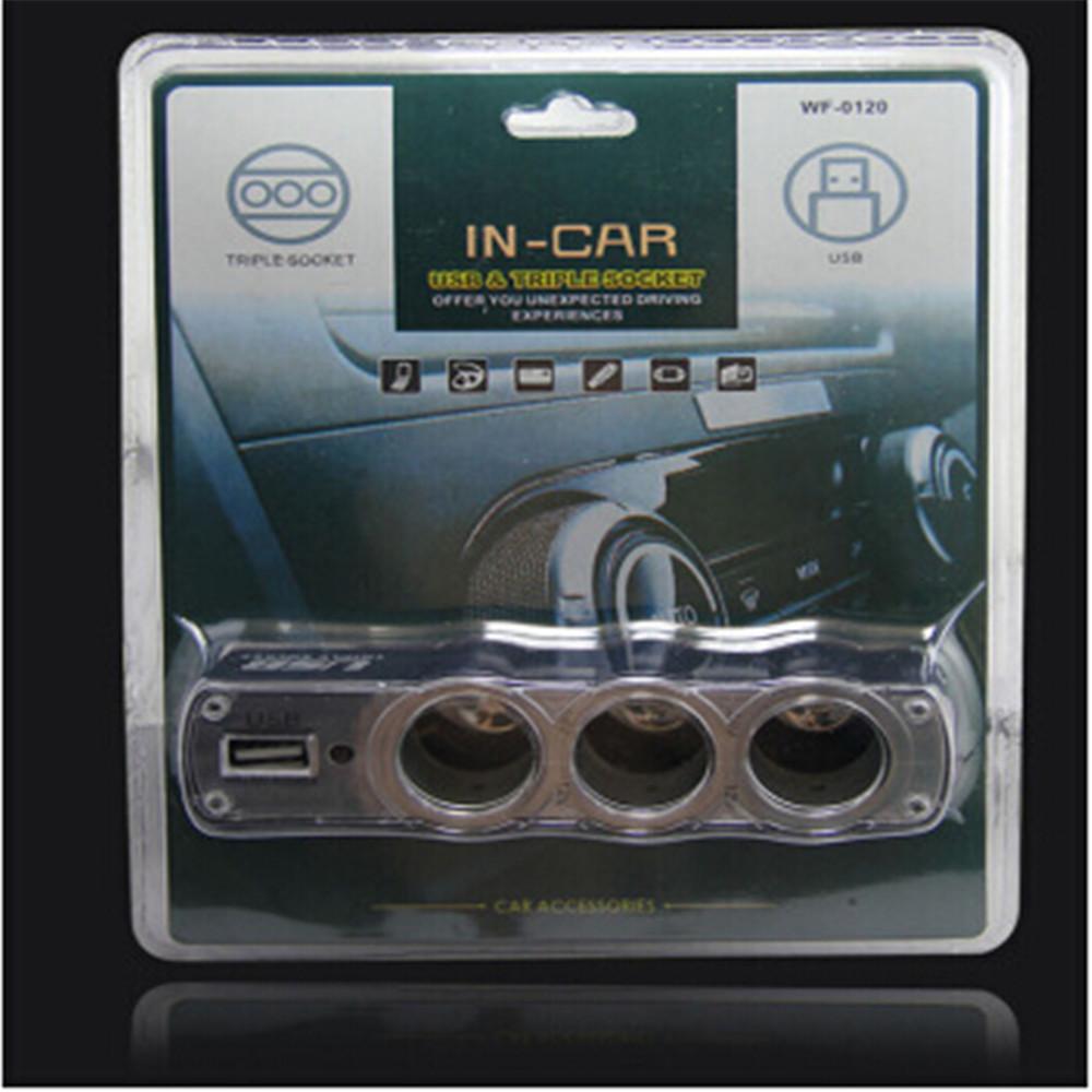 12v usb charging port car cigarette lighter one in three cigarette lighter WF0120 cigarette lighter socket car cigarette lighter