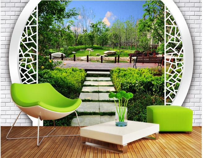 Custom personalized wallpaper 3D landscape garden after garden wallpapers mural papel de parede non-woven wallpaper 20153006(China (Mainland))