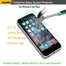 High quality 9H hardness screen protector tempered glass for iPhone6 Plus with retail package