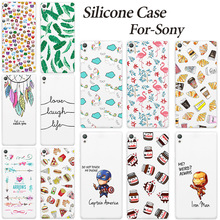 Fashion Nice Design Soft TPU Case Sony Xperia E5 E 5 F3311 F3313 Transparent Silicone Cover Phone Cases - 7th Avenue Store (ShenZhen store Co.,Ltd)