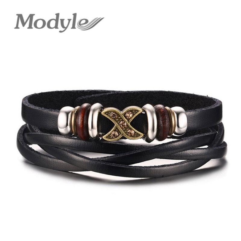 2016 New Fashion Genuine Leather Charm Bracelets For Women Men Vintage Braided Bracelets Bangles Wholesale(China (Mainland))