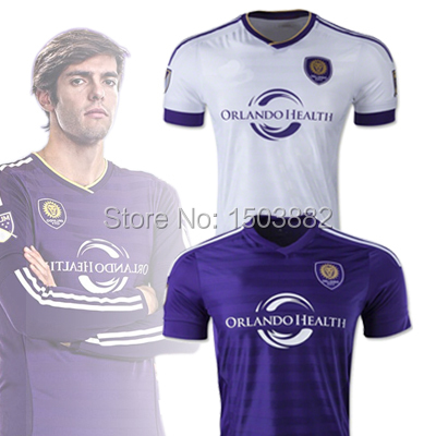 2015 New Orlando City Jersey 15 16 home away purple white Orlando City soccer shirts KAKA Orlando City jerseys(China (Mainland))