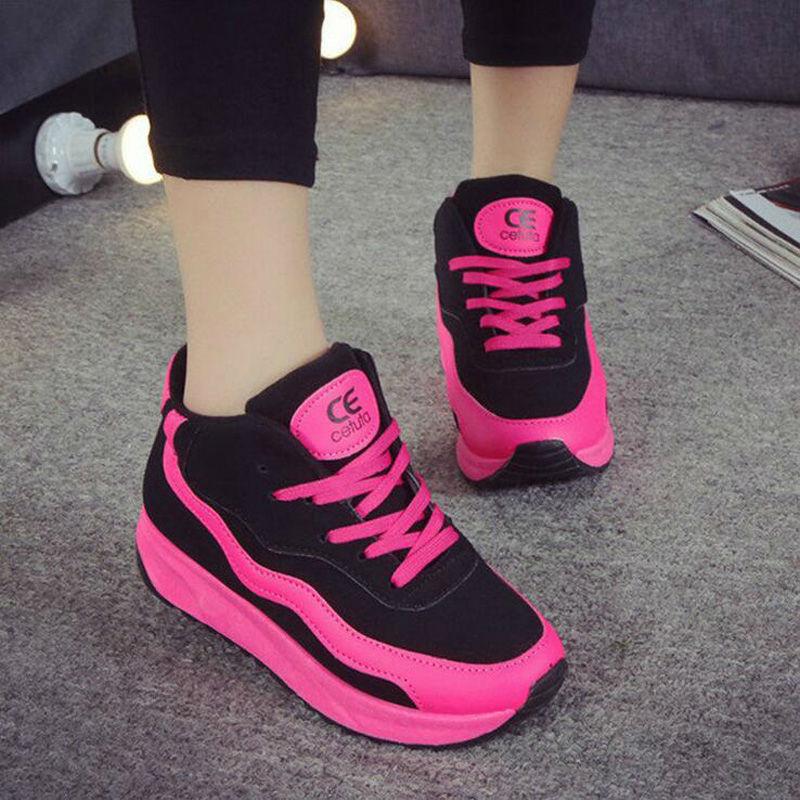 sale pink sport casual shoes fashion pu