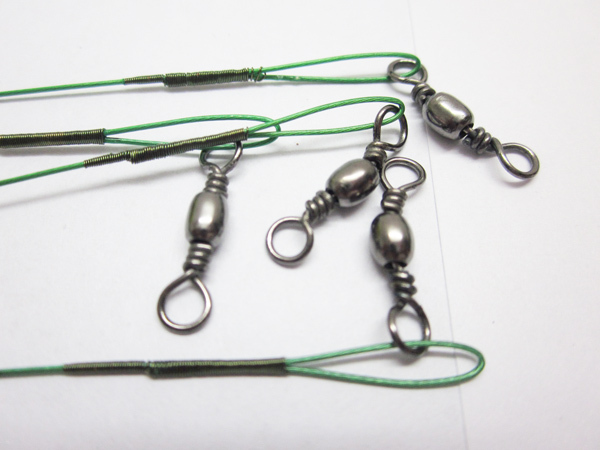 30pcs lot Wire strand Fishing Trace Wire Leader Swivel fishing tackle Steel Wire hook metal lure