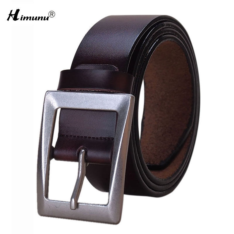 Wxh 2016 New Luxury Genuine Leather Brand Name Belt for Men Jeans Belts Best Quality Male girdle Alloy Pin Buckle Light Himunu(China (Mainland))