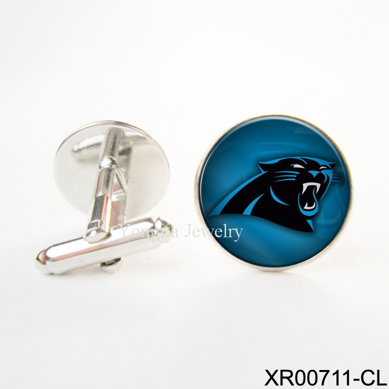 Carolina Panthers Cufflinks Romantic Cheap Cufflinks Copper Wedding Cuff Links memorial cufflinks NFL football Cufflinks(China (Mainland))