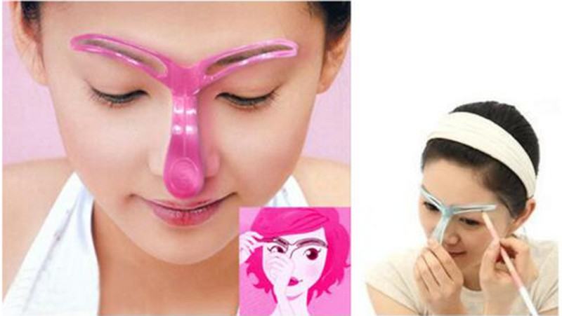 Perfect Eyebrow Grooming Stencil Eyebrow Shaping Card Thrush Pierced Perspective Eye Brow Guide Tool Plastic Model Kits H81