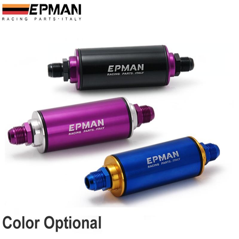 Epman фиолетовый AN8 гонки производительность топливный фильтр с 100 мкм элемент EP-OF08-PUR