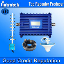 Lintratek LCD Display 4G LTE Signal Booster 1800MHz 70dB Gain GSM Repeater 4G 1800MHz Mobile Phone Signal Amplifier Full Kit F18(China (Mainland))