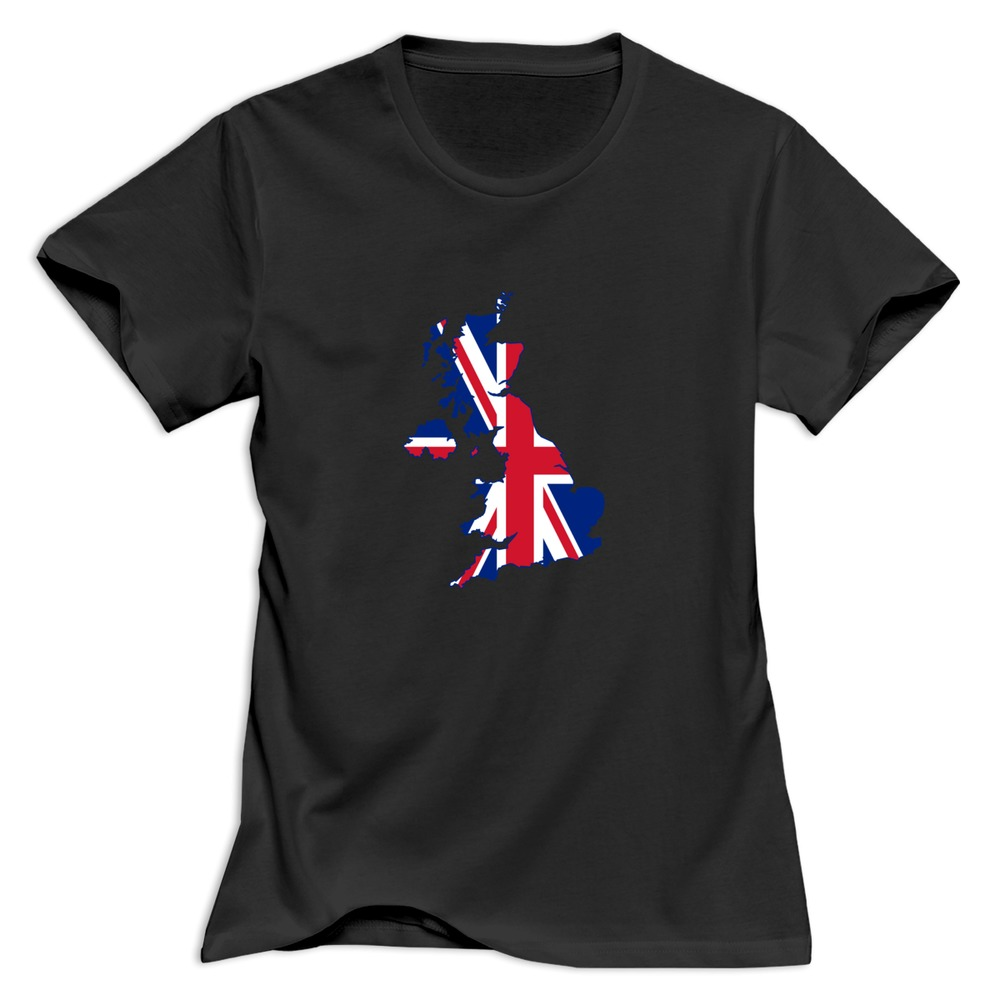 New Arrival Uk Outline And Flag Women 39 S T Shirt Design Own