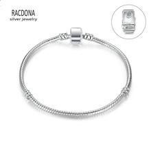High Quality Silver Plated Basic Snake Chain Magnet Clasp Bracelets FIT Original Pandora Bracelet Without LOGO(China (Mainland))
