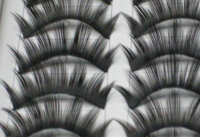 free shipping Hand-made False eyelashes 100pairs /lot (10pairs=1 box)  C007