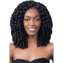Freetress African Collection Jumpy Wand Curl Twist Jamaican Bounce Twist Braiding Hair Extension Havana Synthetic Crochet Hair(China (Mainland))