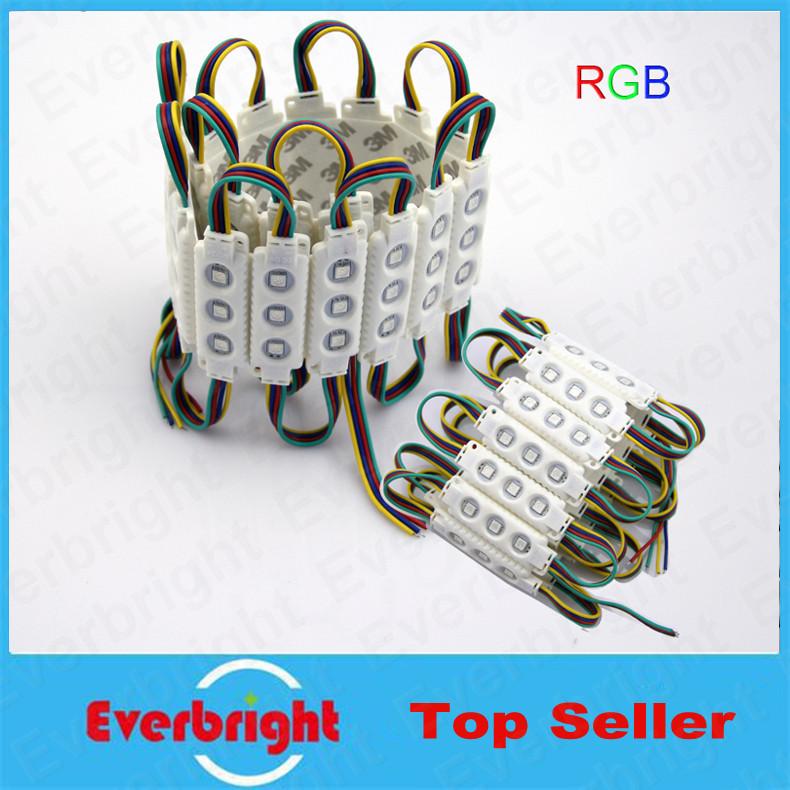 Здесь можно купить  100 pcs/Lot  5050 LED Modules Waterproof IP65 Led Modules DC 12V SMD 3 Leds Sign Led Backlights For Channel Letters White  Свет и освещение