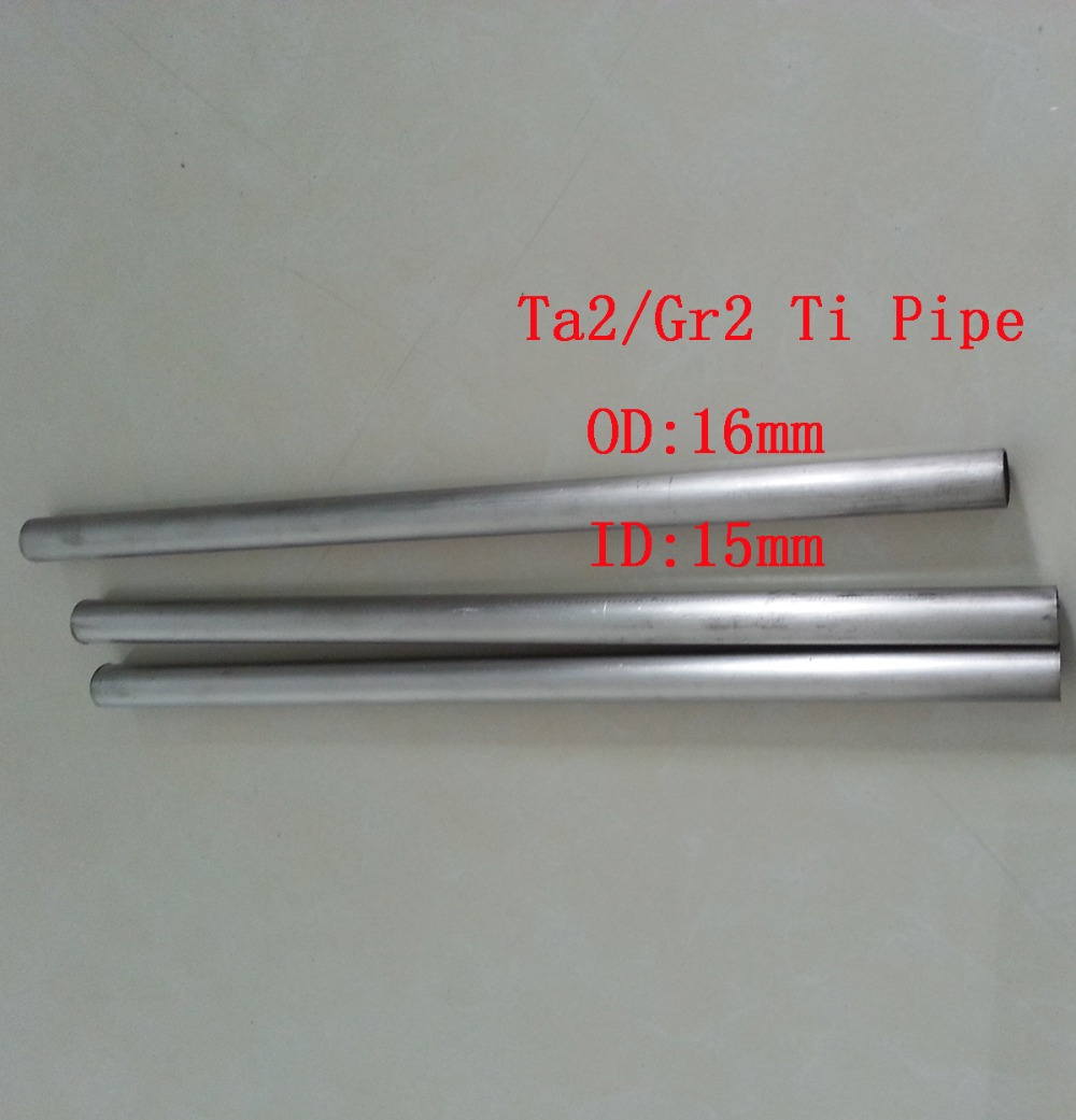 OD:16mm, ID:15mm, Ta2 Titanium Pipe Industry Experiment Research DIY GR2 Small Ti Tube about 300 mm/pc 3pcs/lot(China (Mainland))