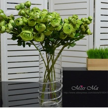 Buy 12 heads Green Tea Rose 8pcs/Bulk Rose Peony Table decor Silk Flower Fake Flower Rose Wedding Party Flower Event Free for $17.00 in AliExpress store