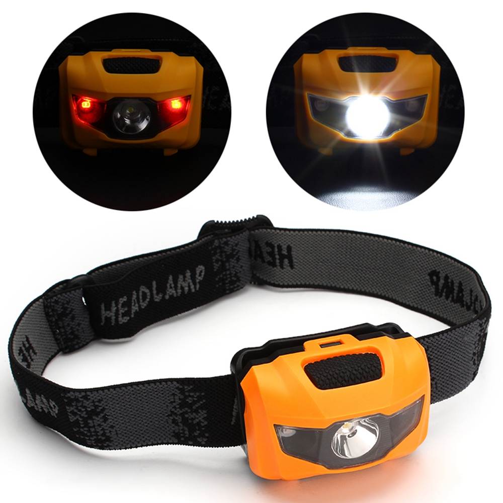 3W LED Headlamp White Waterproof Headlight 2 Red LED Camping Fishing Riding 400LM Head lamp cabeza lantern 4 Modes Flashlight HA(China (Mainland))