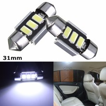 Buy 2pcs 31mm 5050 SMD Error Free Canbus Xenon White Festoon LED Car Auto Interior Dome Lamp Reading Map Light Bulb Car Light Sourse for $1.48 in AliExpress store