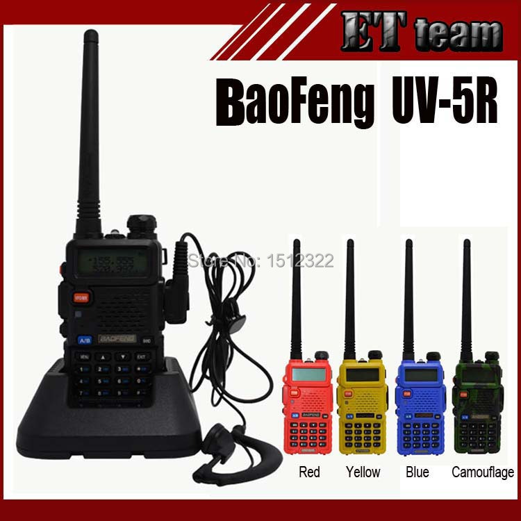 2015 Hot Portable Radio Baofeng UV-5R two way radio Walkie Talkie pofung 5W vhf uhf dual band 136-174 400-520MHZ baofeng uv 5r(China (Mainland))
