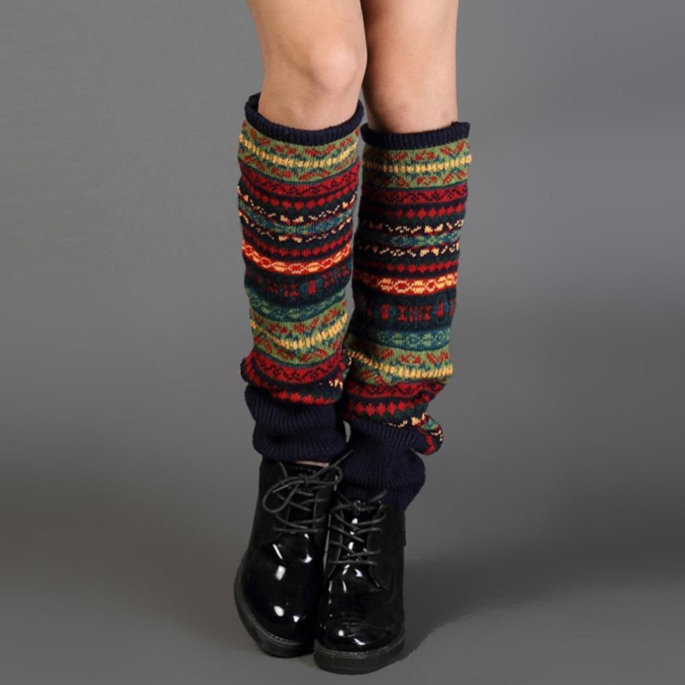 bohemis crochet knitted leg warmers