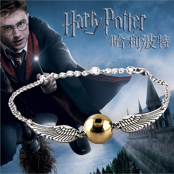 2017 New Hot Fashion Fine Movies Jewelry Magic Academy Deathly Hallows Golden Snitch Bracelets & Bangles For Women And Men B-106