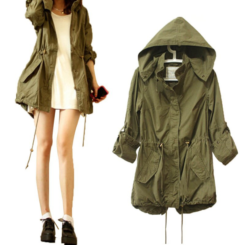 2015 Women Jacket Winter Warm Army Green Military Parka Trench Hooded Coat JacketОдежда и ак�е��уары<br><br><br>Aliexpress