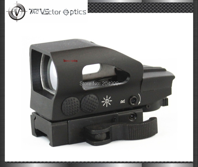 Vector Optics Tactical 1x23x34 Red Green Dot Scope 4 Reticle Sight with QD 20mm Mount Base for Hunting