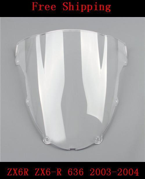 Для Kawasaki ZX6R ZX6-R 636 2003-2004 модели мотоциклов лобовое стекло лобовое стекло высокое качество мото двойной пузырь ZX 6R 03 04 FD002