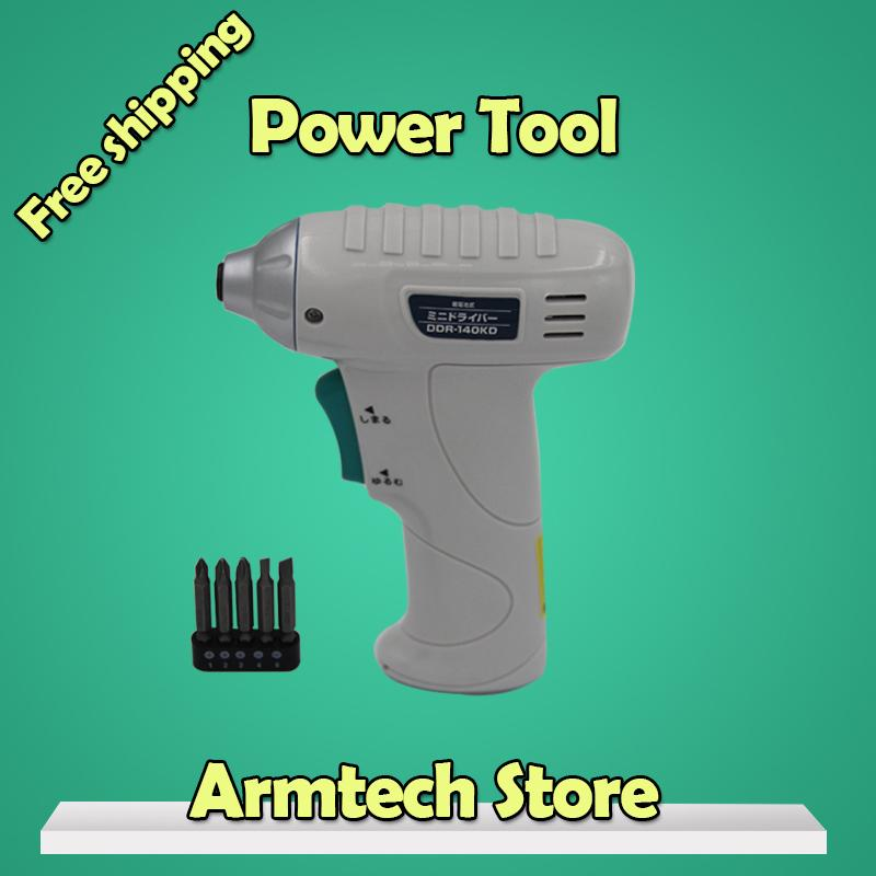 Direct Selling Factory Power Tool Cordless Screwdriver Electric Drill Power From 6v Battery ,210rpm Diy Tools 2015 Free Shipping(China (Mainland))