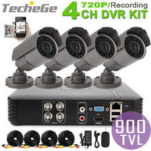 4CH 960H Mini AHD DVR System 4pcs CMOS 800TVL outdoor Warterproof Night Vision IR Camera with IR-Cut DIY economical cctv system