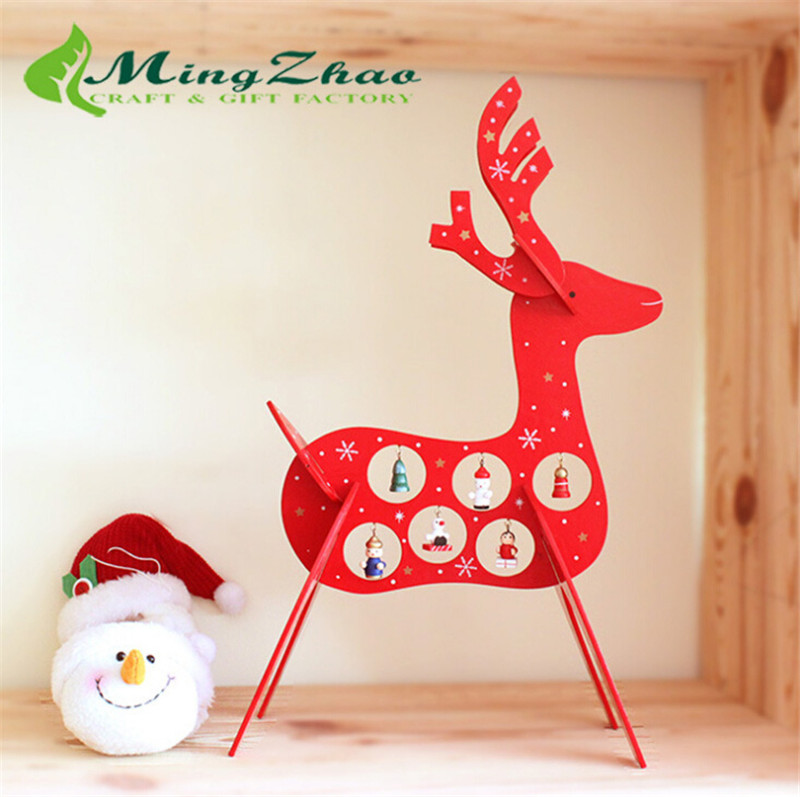 39cm 15ft Mini Design A complete DIY Christmas deer Tree Decorations set for Home artificial lights ornaments Kids Toys 0214(China (Mainland))