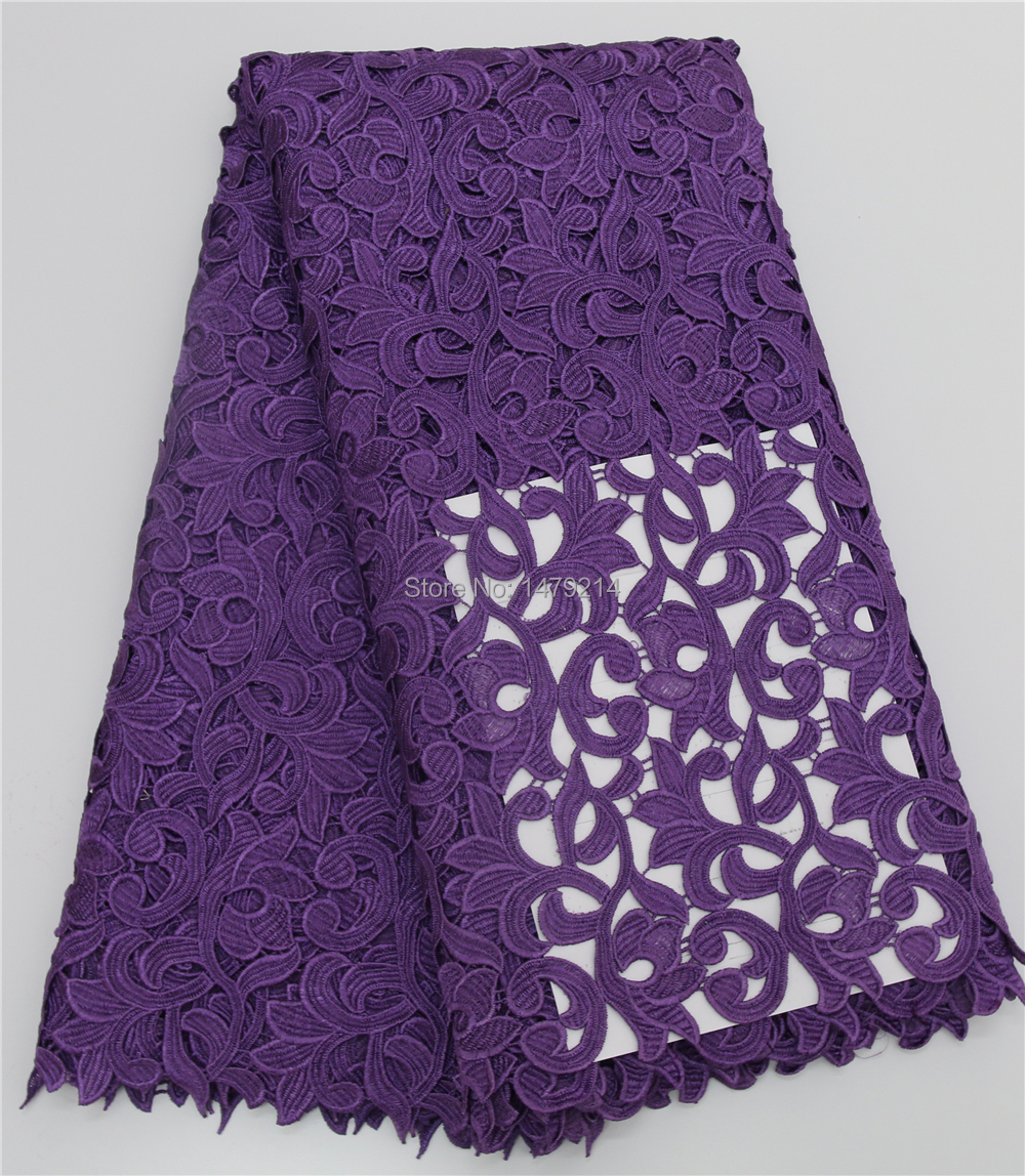 high quality pretty african cord lace guipure water soluble lace PGC1951-2(China (Mainland))