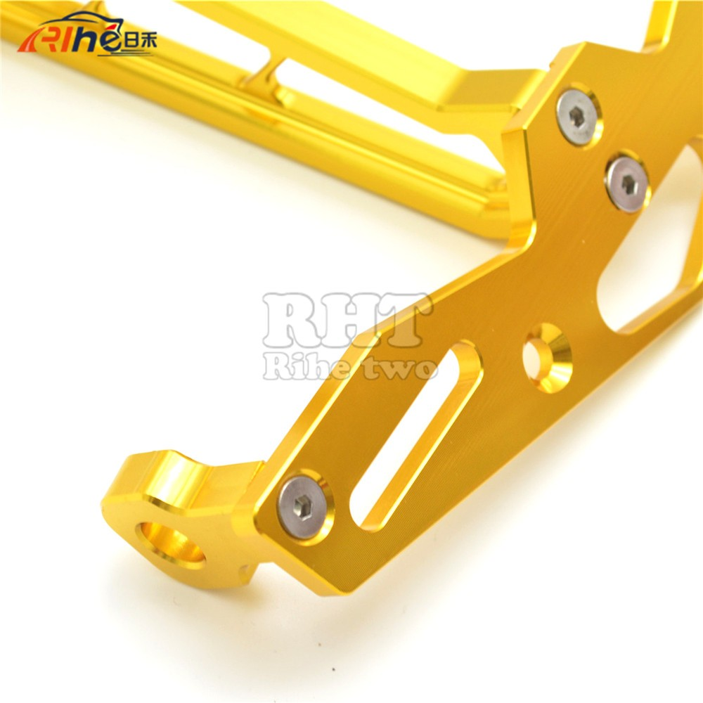 Motorbike Accessories Motorcycle License Number Plate Frame Holder Bracket Golden Color For HONDA  MSX 125 MSX 300 MSX300/250